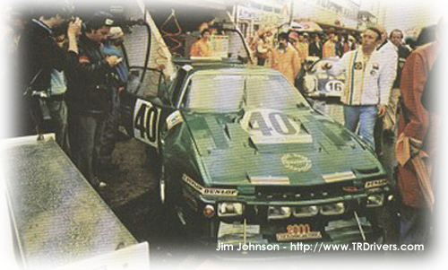 The TR7 LeMans  entrant in the pits in 1980