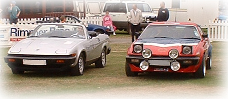 A US Spec TR8 and a Rally replica in the parade ring
